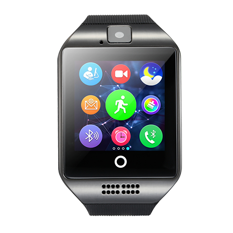 2016 SmartWatch Q18 Wristwatch with Touch Screen Camera TF Card Bluetooth Fashion Smart bracelet for Android Mobilephone