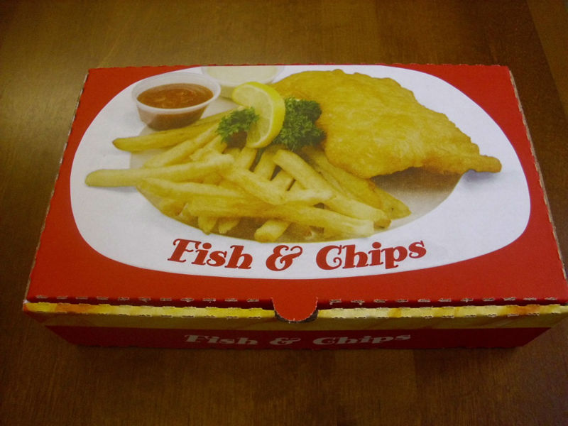 fish and chips boxes