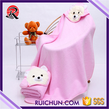 China Supplier Cotton Organic Baby Hooded Towel