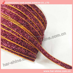 Colorful Metallic Make Fabric Ribbon Bow For Sale
