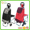 Hand trolley cart fashionable trolley travel bag with chair