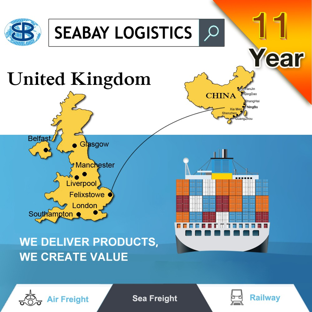 sea freight service shipping from shenzhen to UK