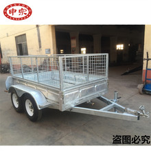 car connected trailer ball coupler electric motor tipping tandem trailer