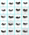 Factory wholesale 100% handmade 3d real mink fur eyelashes custom packaging siberian mink lashes