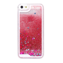 Mobile Phone Accessories Liquid Glitter Star Phone Cases For Iphone SE 5 6 6 Plus