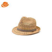 2017 Hot Sale Trendy Unisex Fedora Trilby Gangster Cap For Women Summer Beach Sun Straw Panama Hat Men Fashion Hats Retail