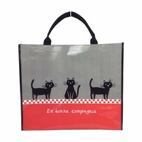 PP woven recycle bag Durable large size tote shopping bags