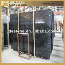 China natural marble ancient wood black marble