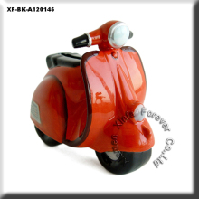 unique unpainted potterywares motorcycle coin bank
