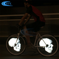 Waterproof colorful 416 leds decorative bicycle bike wheel light with rechargeable battery