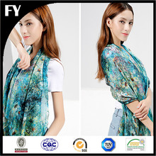 2017 Custom Erogenous Charming Beach Silk material Digital Printed Pashmina Scarves