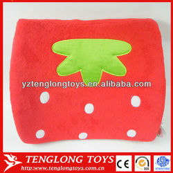 Fruit style Strawberry shaped cute and comfortable plush back pillows