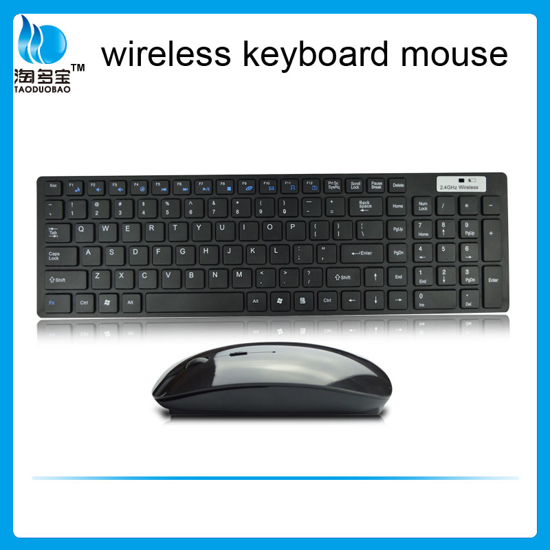 Wireless 2.4g Slim small industrial project keyboard and mouse combo