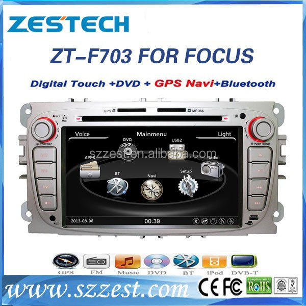ZESTECH 2 din touch for Ford Focus audio with DVD GPS player car multimedia player for Ford Focus
