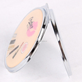 Hot Round Epoxy Resin Support Customized With Double Side Folding For Promotion And Makeup Pocekt Mirror
