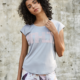 Newest custom women seamless yoga athletic t shirt printing sports wear gym tops for ladies