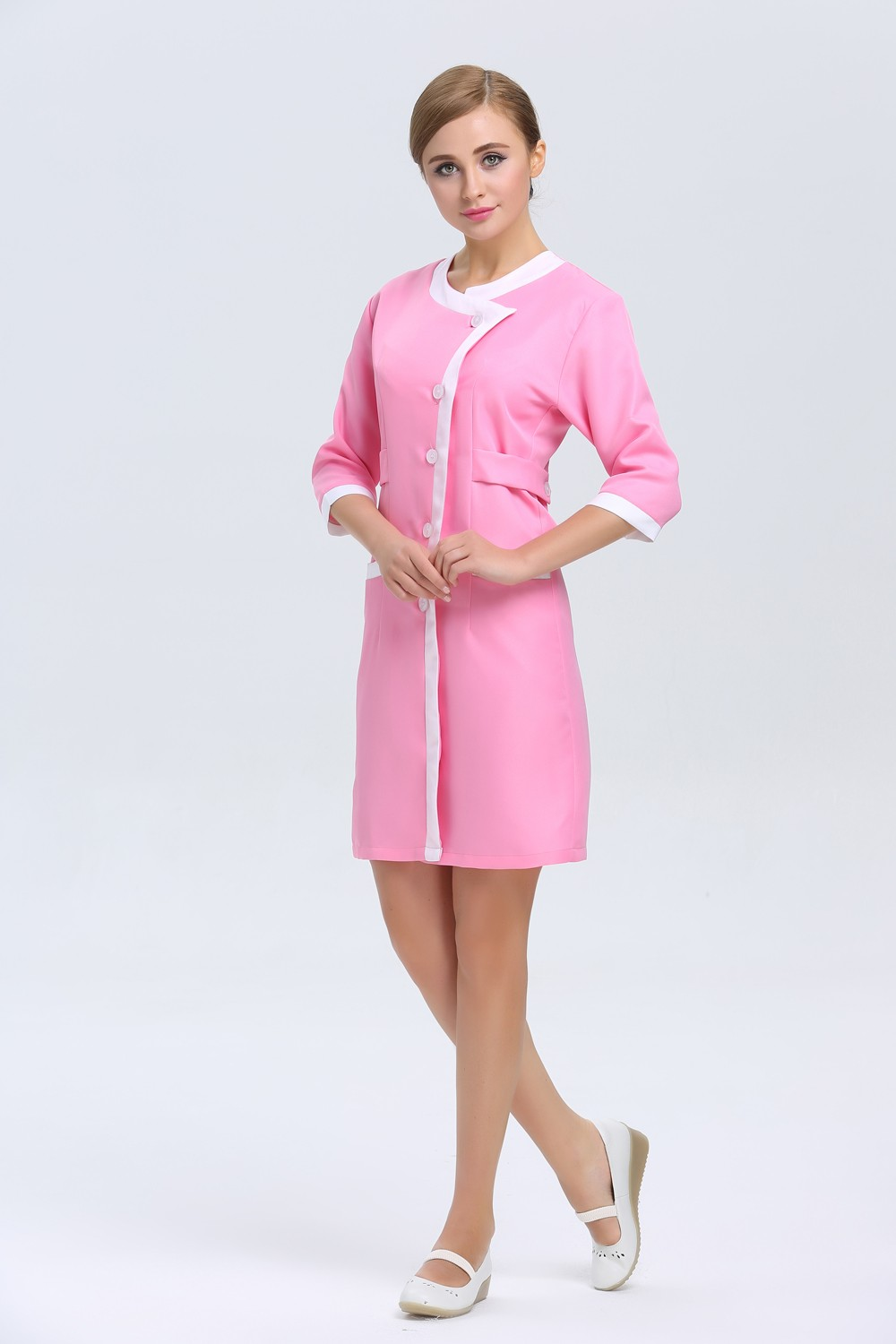Spa uniform from europe pictures to pin on pinterest for Spa employee uniform