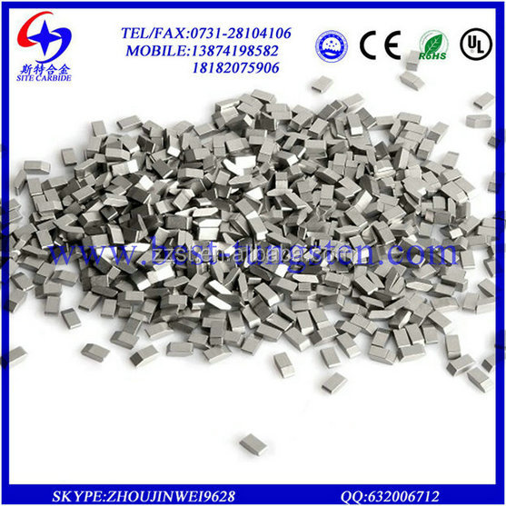 tungsten carbide saw tips /tungsten carbide tip/YG6 hard <strong>alloy</strong> tungsten carbide saw tips for hard woodworking