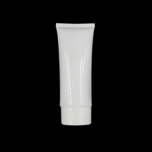 wholesale 100 ml oval shape white color empty soft tube, 100ml plastic cosmetic empty tube with PP flip cap