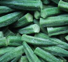 Freeze dried vegetables fresh green okra for sale