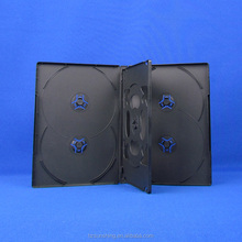 Hard Plastic Multiple black disc case for 6 dvds with shrinking wrapped packaging