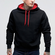 2016 Wholesale fashion custom plain hoodie,hoodie mens wear,polyester black man hoodie