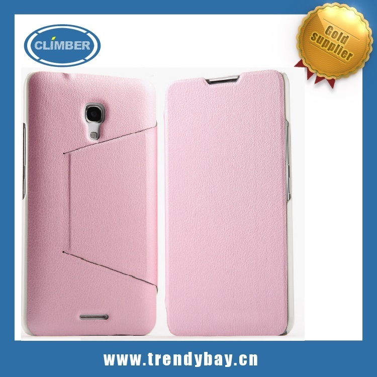 Leather cover case for huawei ascend Mate 2
