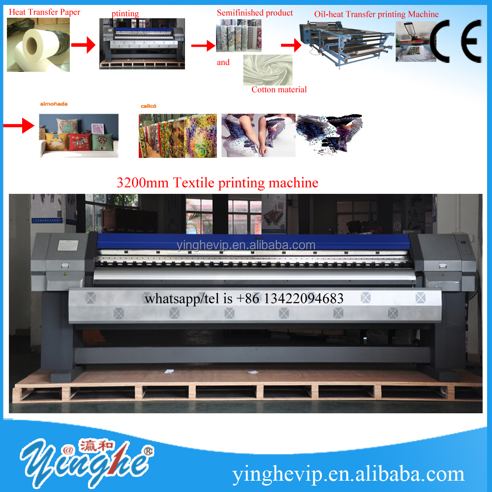 hot sales 3200mm Textile printing plotter machine/digital printer /iInkjet Printers /eco <strong>solvent</strong> printer for sales