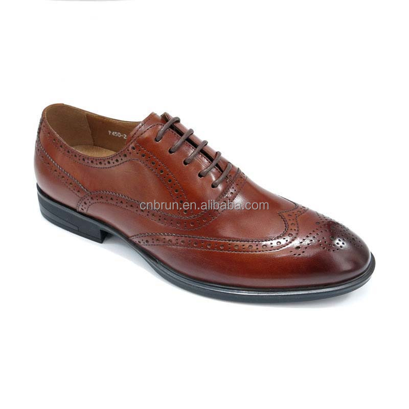Royal quality leather sole calf hide mens oxford formal shoes