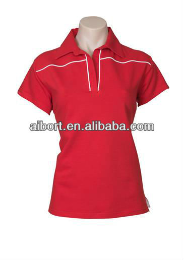 Women's dry fit sports fitted polo shirts
