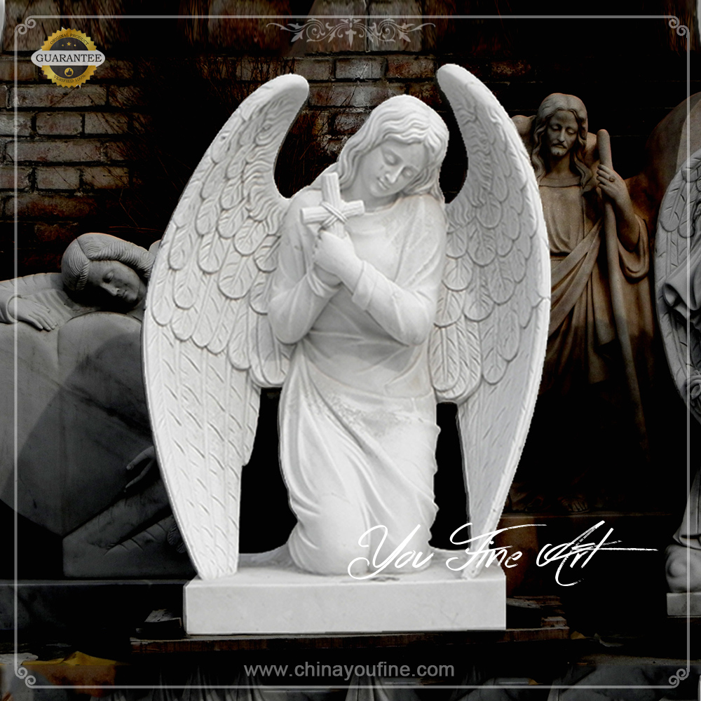 Hand Carved Marble angels monuments and headstones