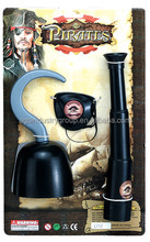 Diffent designs New Pirate toys Eye patch,Telescope and Compass