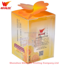 wanli brand high quality eco-friendly custom PP PVC foldable high end clear PET plastic packaging gift box