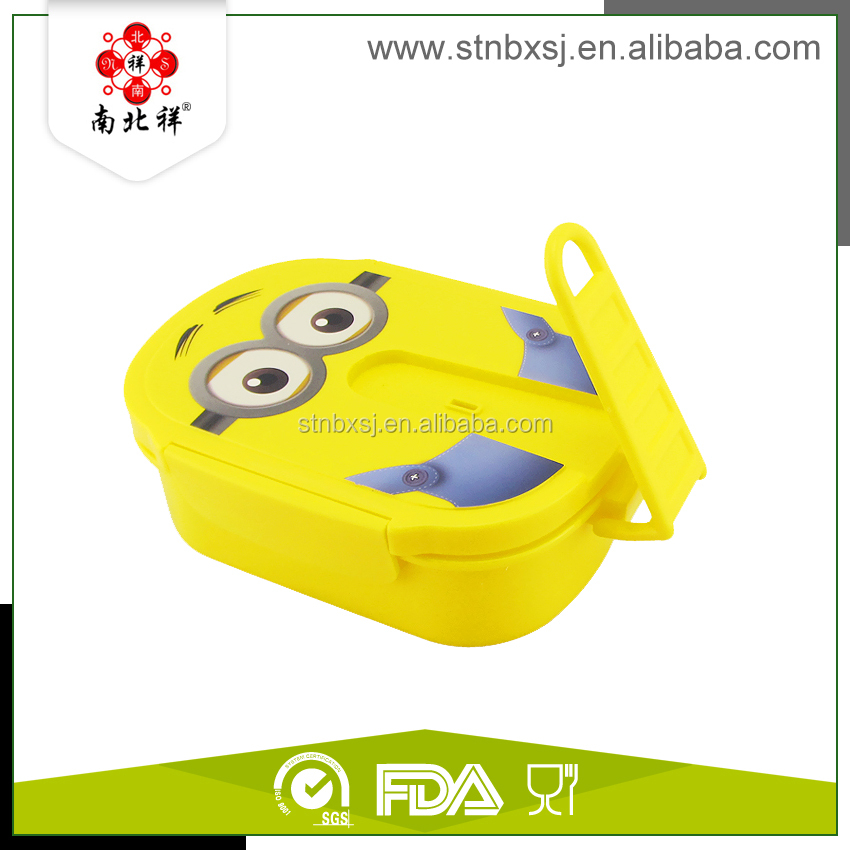 Minions Kids Plastic Sublimation Lunch Box With Lock