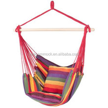 Hanging Swing Chair with Two Cushions Porch Hanging canvas hammock chair