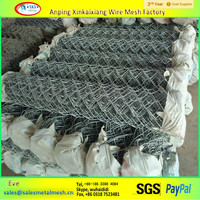 Brand new used chain link fence fabrics cyclone wire mesh fencing