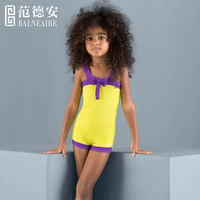 Balneaire new arrival sexy yellow color child models girls in bikini, kids girls swimwear
