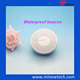 Waterproof white round ibeacon bluetooth beacon accelerometer with on/off button