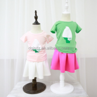 Summer kids painting ice-cream latest children frocks designs wholesale clothing market