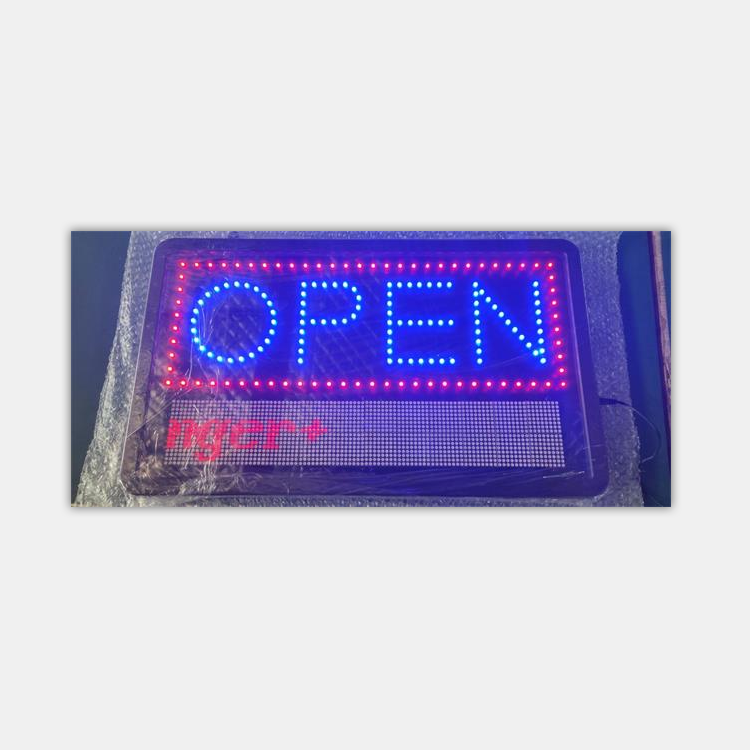 wholesale china factory price programmable open animated led sign
