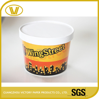 Different Size Disposable biodegradable yogurt paper cup