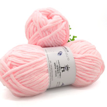 Super chunky versatile dyed <strong>spun</strong> <strong>polyester</strong> chenille <strong>yarn</strong> for hand knitting