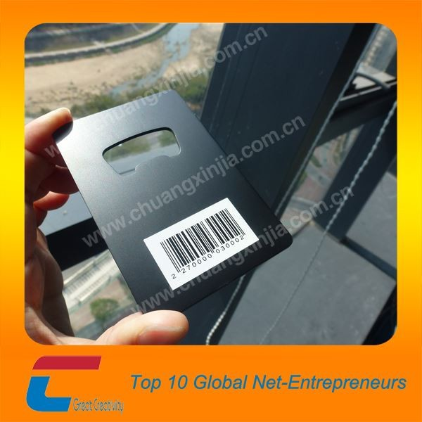 Black Business Card Shape Bottle Opener/Metal Epoxy full color printing Opener/Credit Card Bottle Openers
