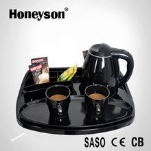 Honeyson double body Anti-scald kettle hotel welcome trays price