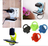 Foldable wall mount cell phone holder, foldable wall charger holder