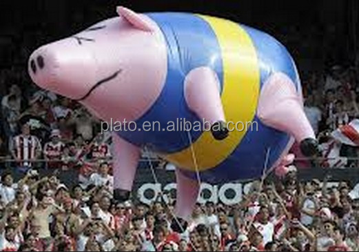 inflatable helium pig balloons,giant pig cartoon balloon for advertising