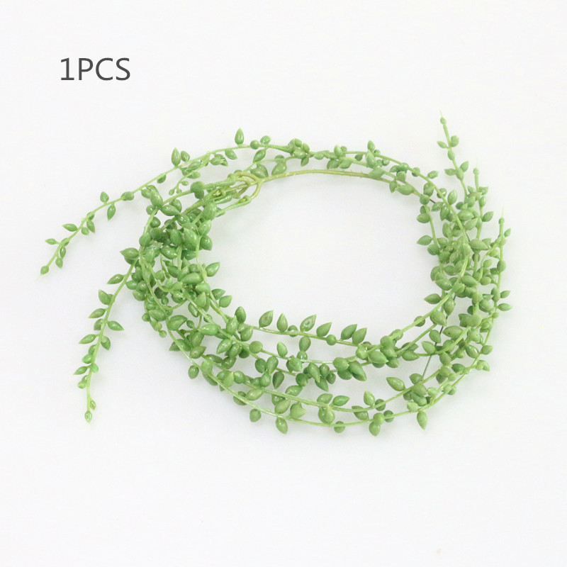 Flone 3 Branch Simulation Succulents Lover Tears Green Rattan Wall Hangings Artificial Plant Home Home Party Leisure De