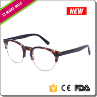 Fashion cheap optical frame fancy italy design rimless reading glasses