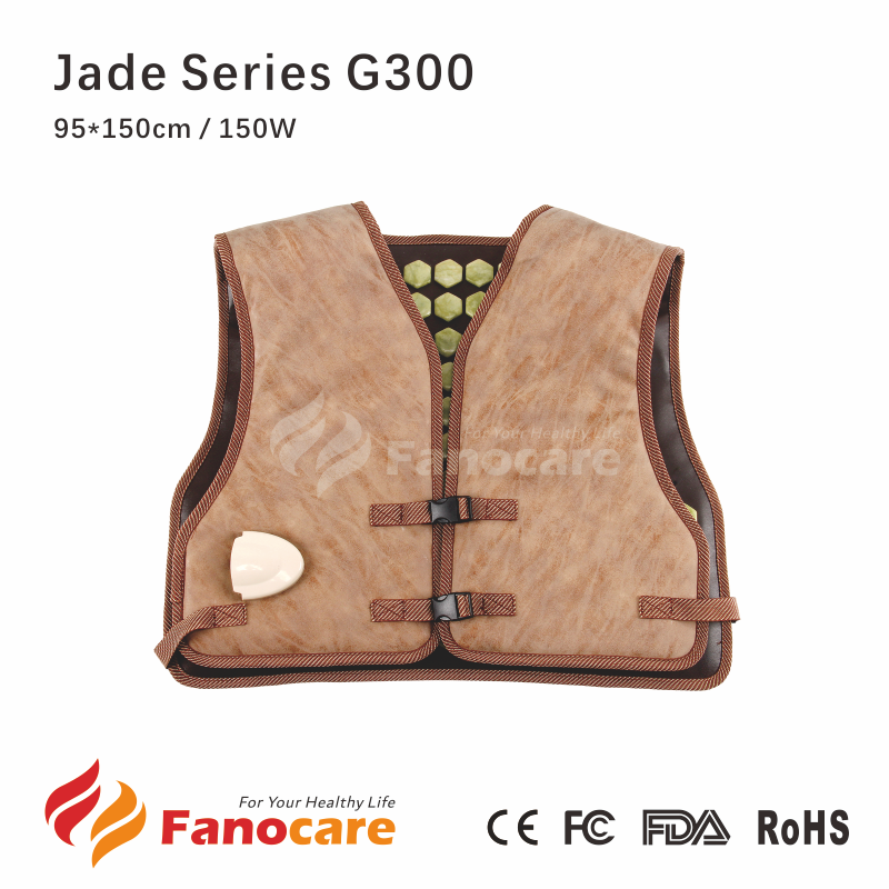 Fanocare far infrared heated thermal massgaer shoulder pad jade stone matress