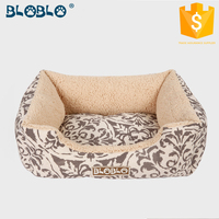 Soft washable luxury memory heated foam pet bed